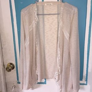 Cute sweater with lace accents